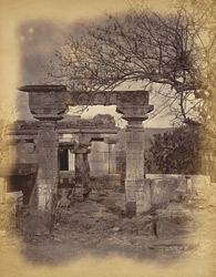 Ruined gateway at entrance to Galaganatha group of temples, Aihole, Bijapur District.